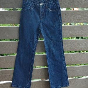 Liz Claiborne women boot cut jeans size 6 Blue